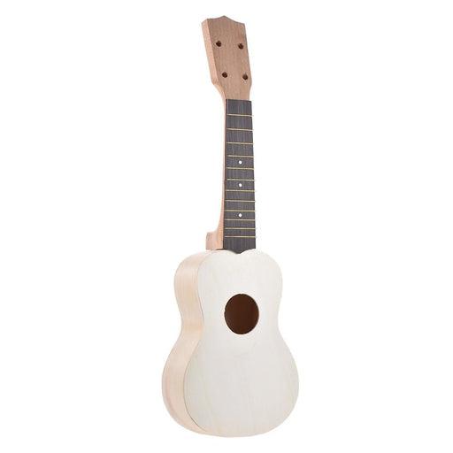 DIY Ukulele Set 21in Soprano Ukelele Hawaii 4 Strings Guitar DIY Kit Maple Wood Body Neck Rosewood Fingerboard with Pegs String