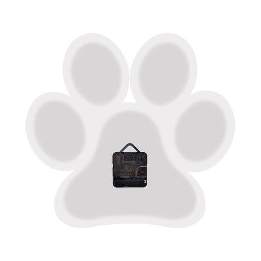 Dog Paw Wall Clock Puppy Pet Foot Wall Art Pet Clinic Pet Shop Home Decor Wall Clock Doggy Paw Charm Dog Loss Pet Memorial Gift
