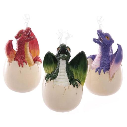 Dragon Egg Incense Holder Fantasy Hatchling Baby Dragon Incense Burners Decoration Smoking Dragon Statue Figurine Magical Gifts