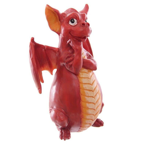 Mythical Fire Breathing Dragon Incense Holder Burner Combo Statue for Sticks or Cones with Decorative Display Stand of Flames