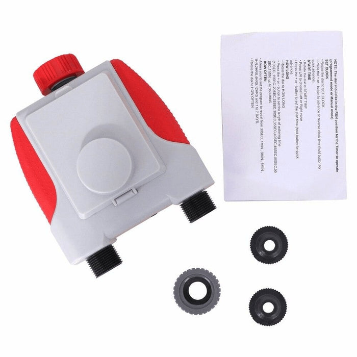 Dual Automatic Watering Sprinkler Timer and Rain Sensor