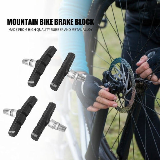 Durable Rubber V-brake Shoes Pads Mountain Bike Brake Cycling Bicycle MTB Blocks Easily Installation Personal Bicycle Parts