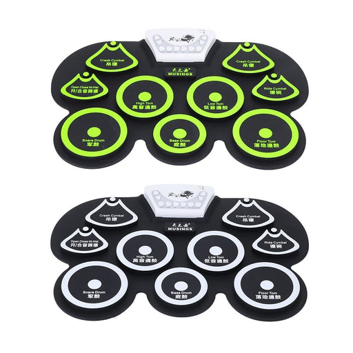 High Quality Electronic Drum Silicone Digital Roll-up Drum Pad Kit USB Electric Drum  with Stick and Foot Pedal