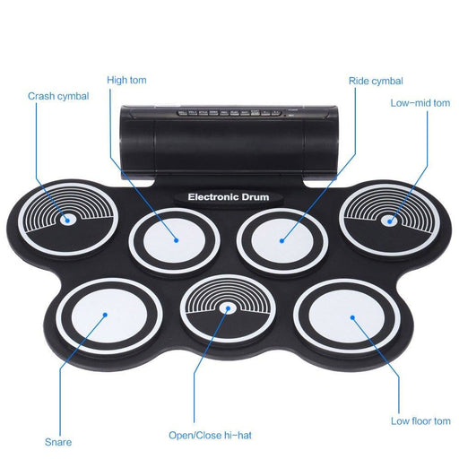 Electronics Drum Pad Set Digital Roll-up Drums Kit Electronic Drum Silicone USB Foot Pedal Percussion Instrument RU Warehouse
