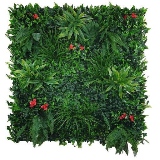 Elegant Red Rose Vertical Garden / Green Wall UV Resistant Sample