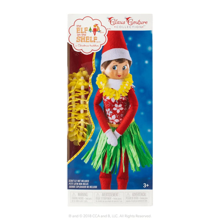 The Elf On The Shelf Claus Couture - Holiday Hula Wear (Girl) goslash fast delivery fast delivery