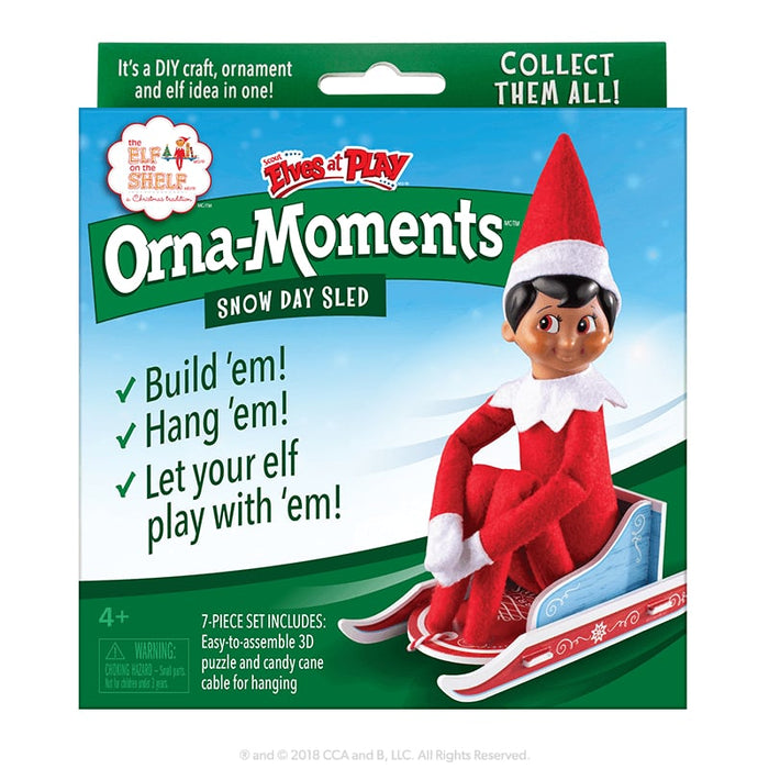 Elves at Play - Orna-Moments™ Snow Day Sled goslash fast delivery fast delivery