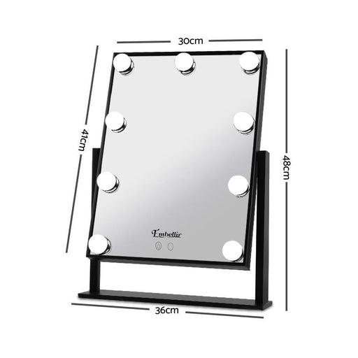 Embellir LED Standing Makeup Mirror - Black goslash fast delivery fast delivery