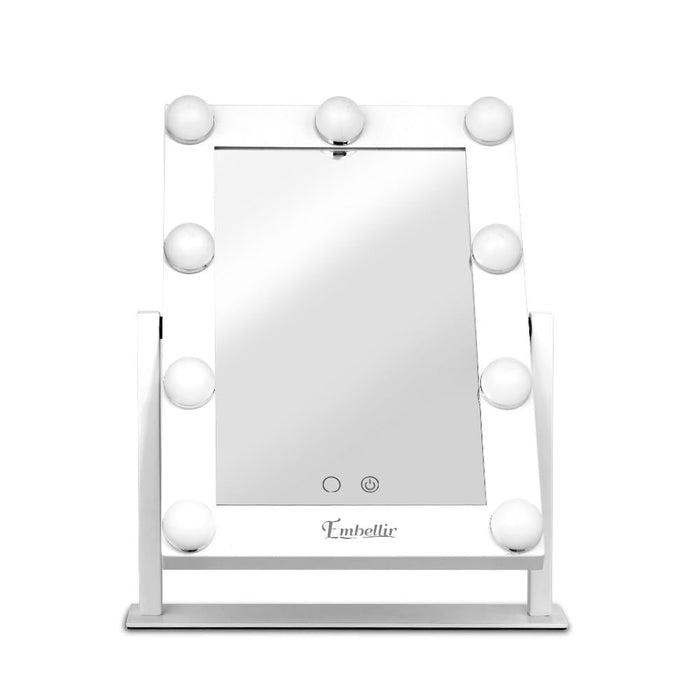 Embellir Led Standing Makeup Mirror - White Health & Beauty