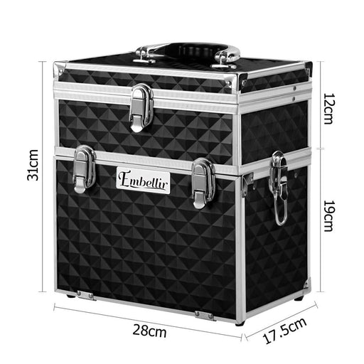 Embellir Portable Cosmetic Beauty Makeup Carry Case with
