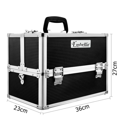 Embellir Portable Cosmetic Beauty Makeup Case with Mirror -