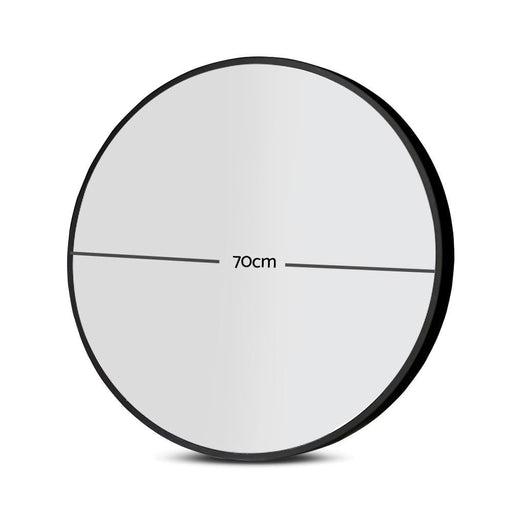 Embellir Round Wall Mirror 70cm Makeup Bathroom Mirror