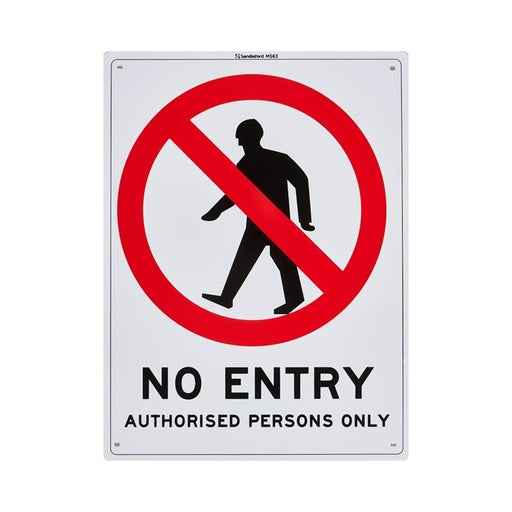 """""""No Entry Authorised Persons Only"""" Plastic Sign goslash fast delivery fast delivery"""