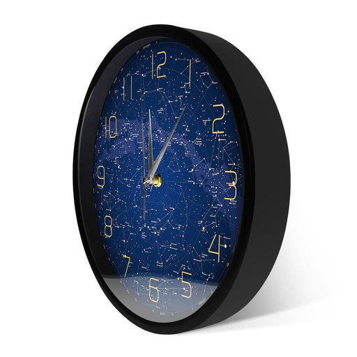 The Evening Sky Map Sound Activated LED Lighting Wall Clock Northern Hemisphere Stars Chart Silent Swept Night Light Wall Clock