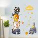 Cartoon Cat Wall Stickers Five Cute Cats DIY Wall Art Decals