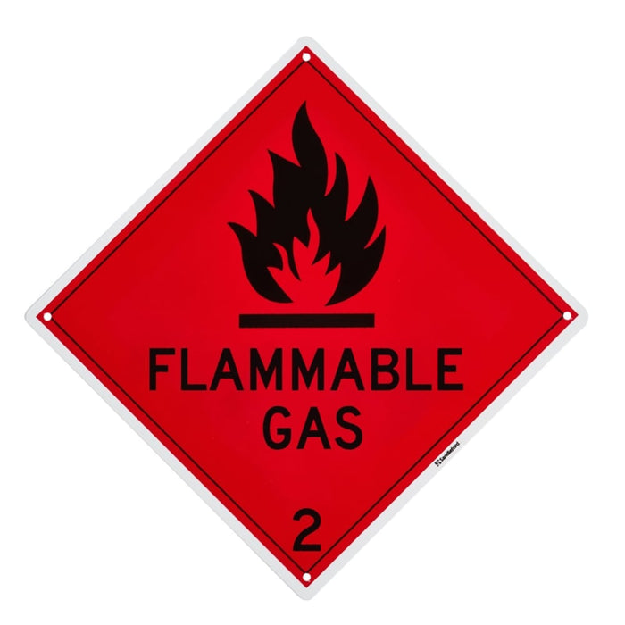 Flammable Gas Plastic Sign goslash fast delivery fast delivery