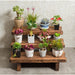 Flower Pot Stand Bench Stool Shelf Storage Shoe Holder Stepped Indoor Outdoor