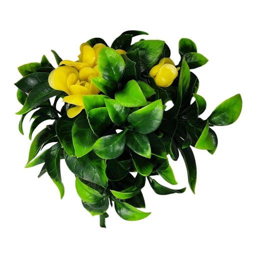 Flowering Yellow Rose Stem Uv Resistant 30cm - Home & Garden
