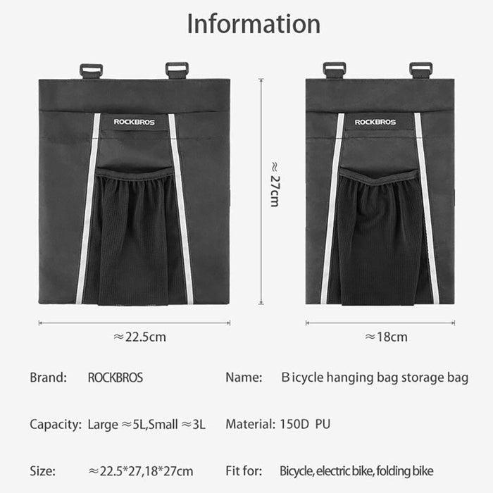 ROCKBROS Bike Bag Head Tube Handlebar Bicycle Bag Foldable