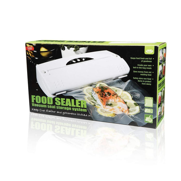 Food Sealer: Vacuum Heat Sealer Machine with 2 Rolls of Bags goslash fast delivery fast delivery