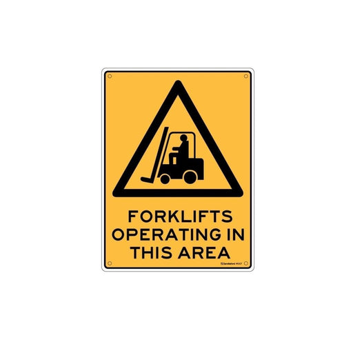 'Forklift Operating Area' Plastic Sign goslash fast delivery fast delivery