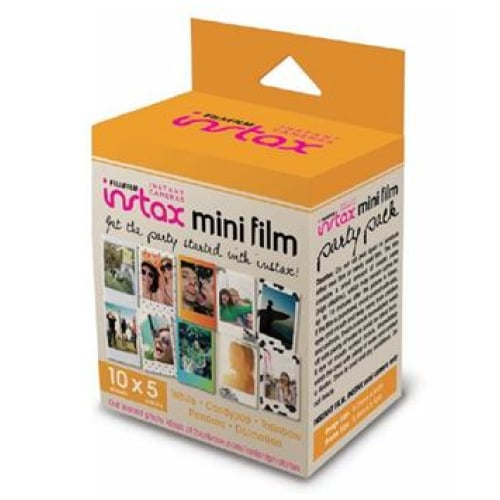 Fujifilm Instax Mini Film 50 Pack Party Instant Camera &