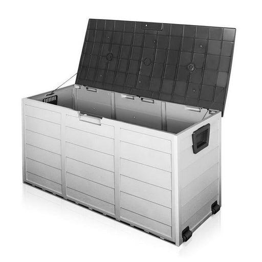 Giantz 290l Outdoor Storage Box - Black - Home & Garden >