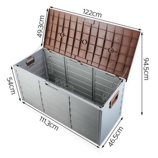 Giantz 290l Outdoor Storage Box - Brown - Home & Garden >
