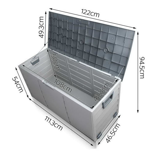 Giantz 290l Outdoor Storage Box - Grey - Home & Garden >