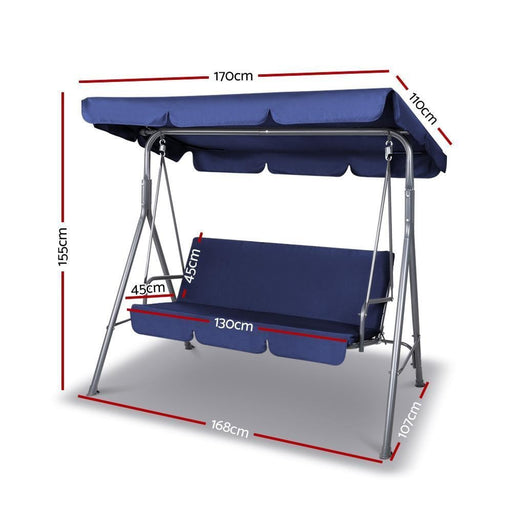 Gardeon Canopy Swing Chair - Navy goslash fast delivery fast delivery