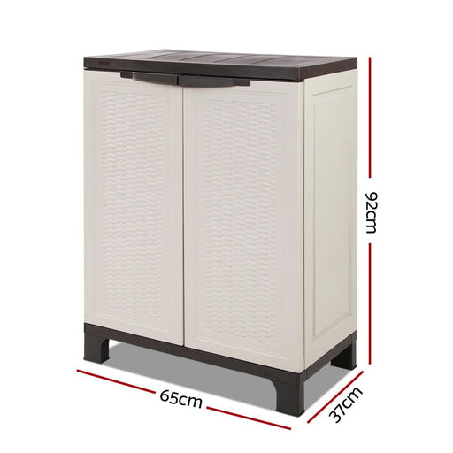 Giantz Outdoor Half Size Adjustable Cupboard - Home & Garden