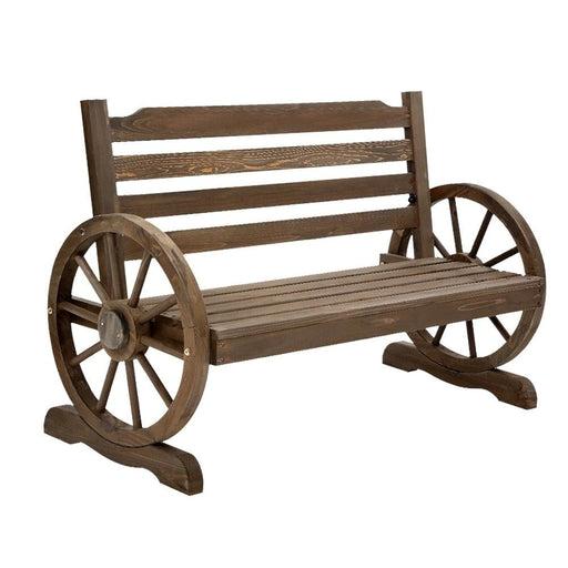 Gardeon Park Bench Wooden Wagon Chair Outdoor Garden Backyard Lounge Furniture