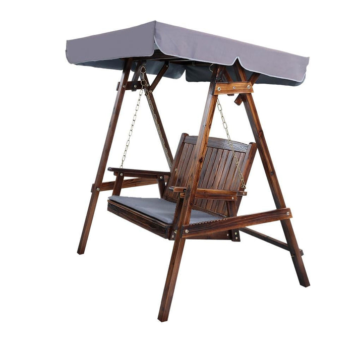 Gardeon Swing Chair Wooden Garden Bench Canopy 2 Seater