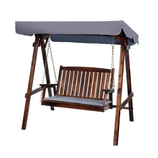 Gardeon Swing Chair Wooden Garden Bench Canopy 2 Seater Outdoor Furniture