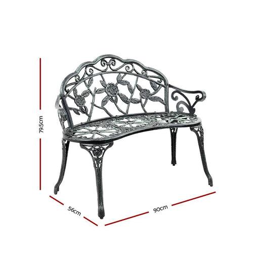 Gardeon Victorian Garden Bench - Green - Furniture > Outdoor