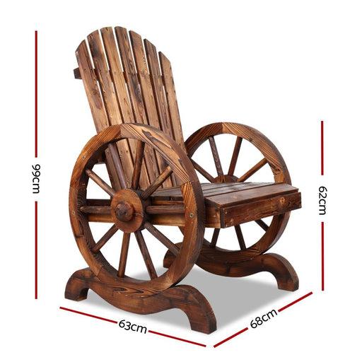 Gardeon Wooden Wagon Chair Outdoor - Furniture > Outdoor