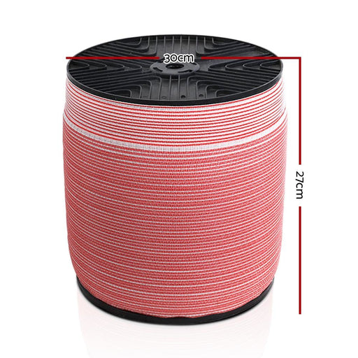 Giantz 1200m Electric Fence Wire Tape Poly Stainless Steel