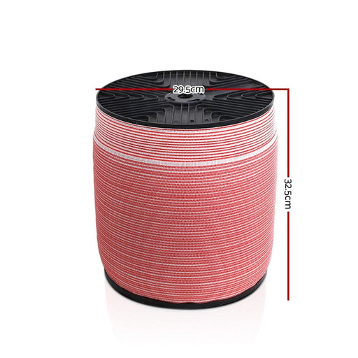 Giantz 2000m Electric Fence Wire Tape Poly Stainless Steel