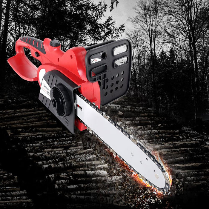 Giantz 20v Cordless Chainsaw - Black and Red - Tools > Power
