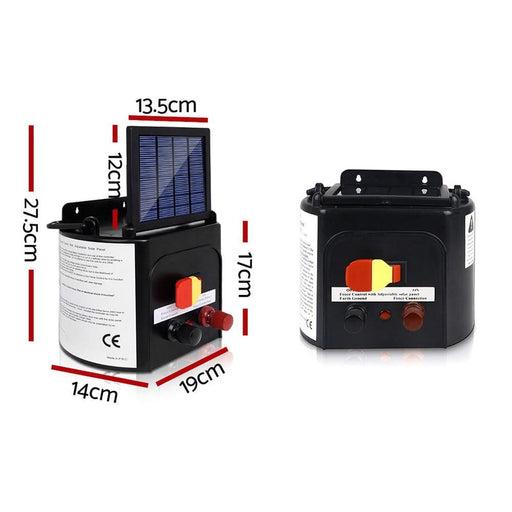 Giantz 5km Solar Electric Fence Charger Energiser - Pet Care