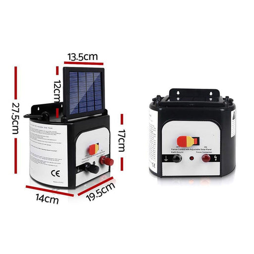 Giantz 8km Solar Power Electric Fence Charger Energiser 0.3j