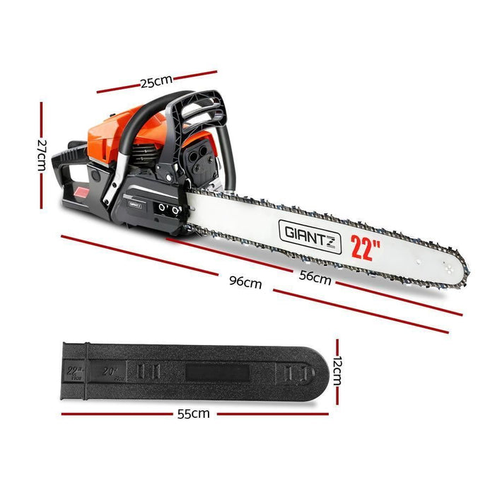 GIANTZ Latest 62cc Petrol Commercial Chainsaw 22 Bar E-Start Chain Saw Pruning goslash fast delivery fast delivery