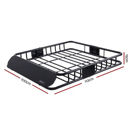 Giantz Universal Roof Rack Basket Car Luggage Carrier Steel