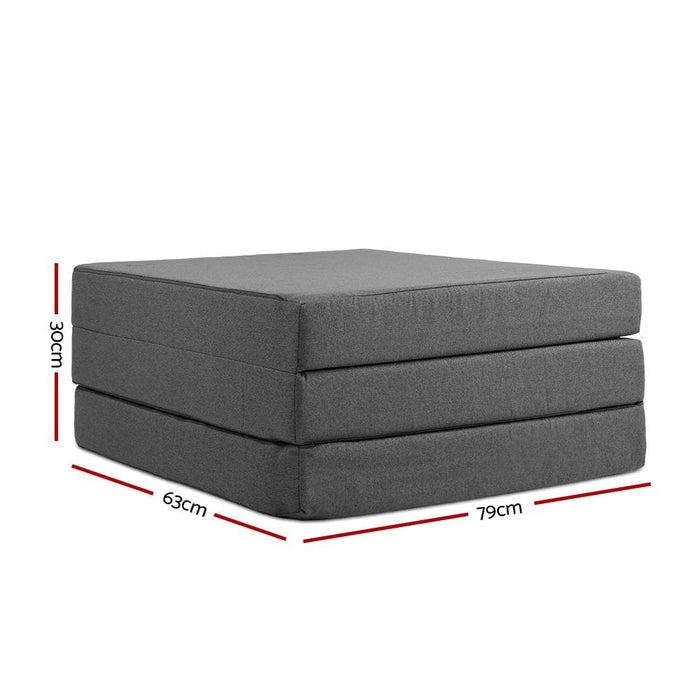 Giselle Bedding Folding Foam Portable Mattress - Furniture >