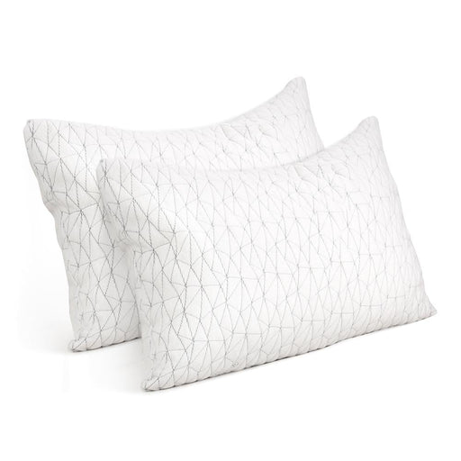 Giselle Bedding Set of 2 Rayon Single Memory Foam Pillow