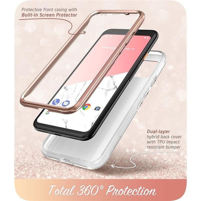 For Google Pixel 4 Case 5.7 Inch (2019) Cosmo Full-body Glitter Marble Bumper