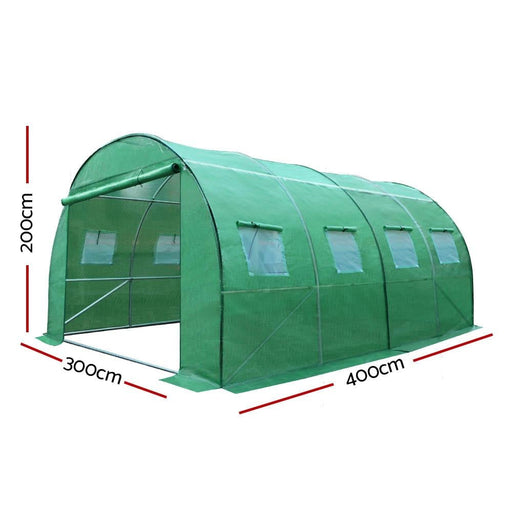Greenfingers Greenhouse 4x3x2m Garden Shed Green House