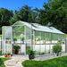 Greenfingers Greenhouse Aluminium Green House Garden Shed