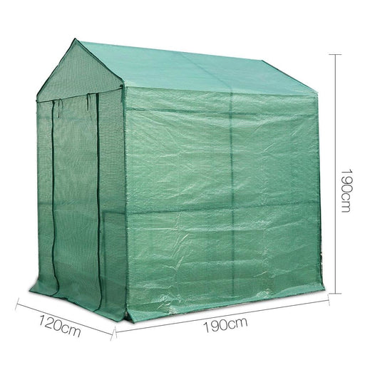 Greenfingers Greenhouse Garden Shed Green House 1.9x1.2m