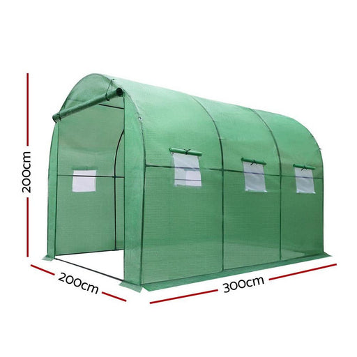Greenfingers Greenhouse Garden Shed Green House 3x2x2m